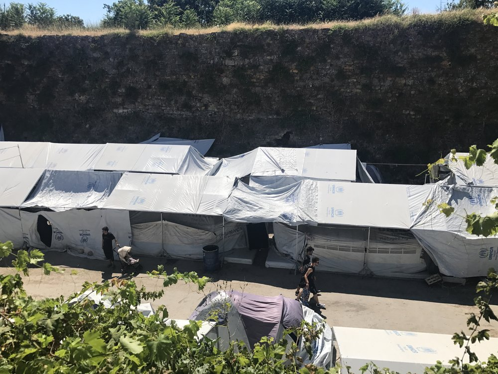 The Souda camp on the island of Chios, where more than 800 asylum-seekers and migrants live in overcrowded and dire conditions. Insecurity and a rat infestation inside the camp are top concerns.
