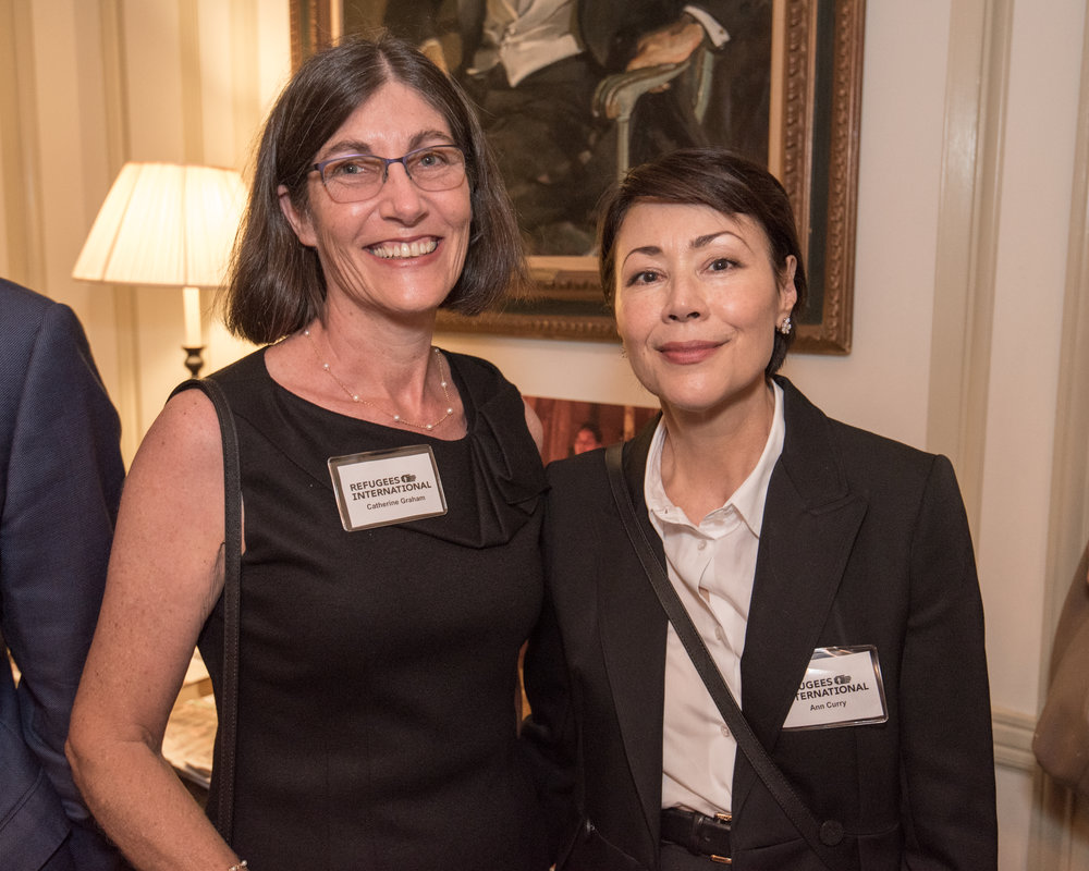 Journalist Ann Curry, a past awardee, attended the event, pictured here with guest Catherine Graham.