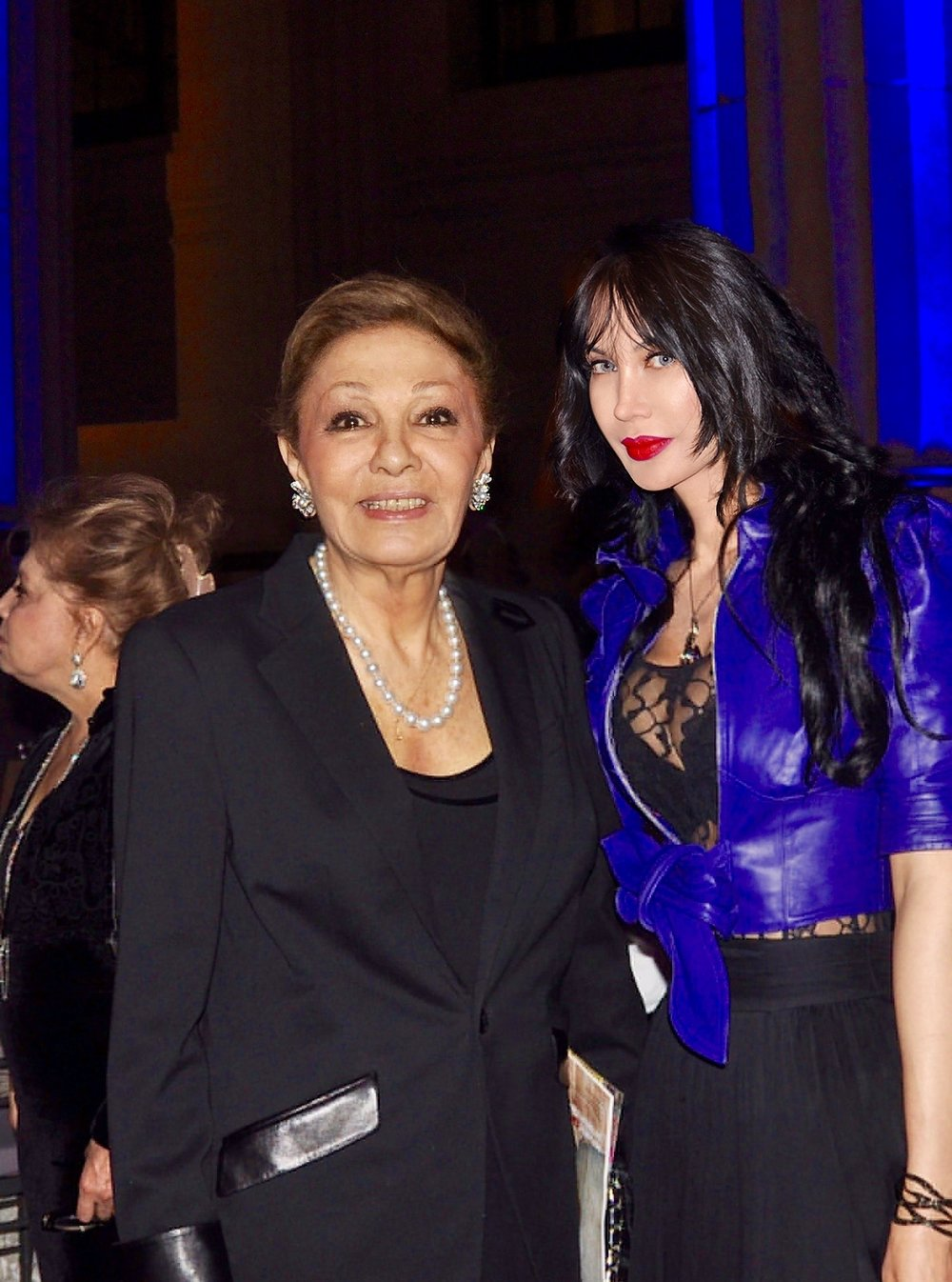 Queen Farah with Refugees International Board Member Demet Öger