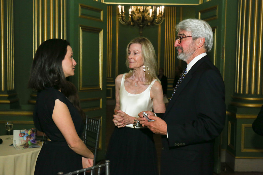 RI Advocate Alexandra Lamarche with Board Chair Eileen Shields-West and Board Member Emeritus Sam Waterston.