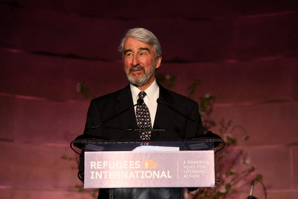 Board Member Emeritus and Master of Ceremonies Sam Waterston opens the 39th Anniversary Dinner.
