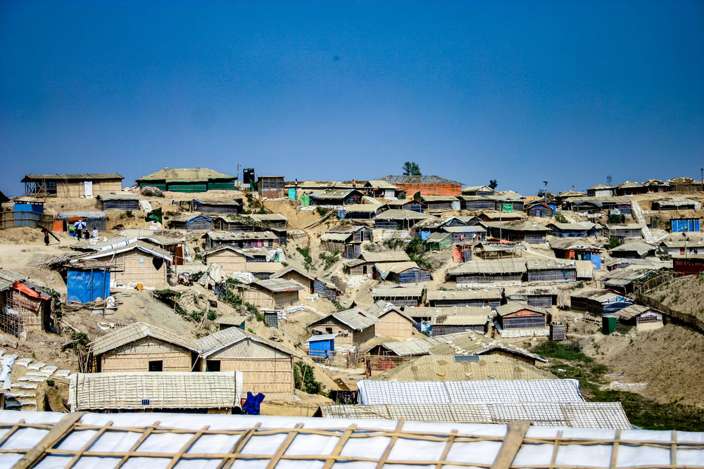"Snapshot of the Rohingya refugee ""mega-camp"" in Cox's Bazar, Bangladesh."