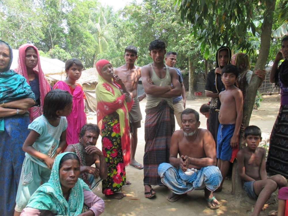 This group of Rohingya living in Shamlapur shared the abuses they fled in Myanmar and the challenges they now face in Bangladesh..JPG