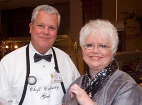 Robert Shaw (l) and Child Advocacy Center Executive Director Nancy Williams (r) at the 2010 Celebrity Chef Gala