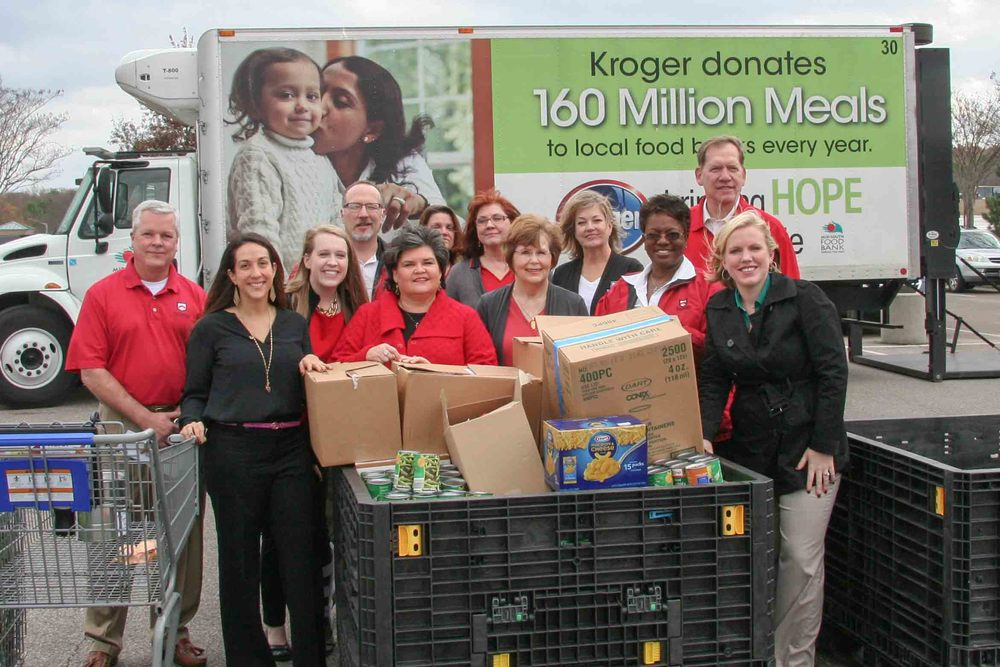 Paragon Team Members drop of food and cash at the Kroger in Germantown.