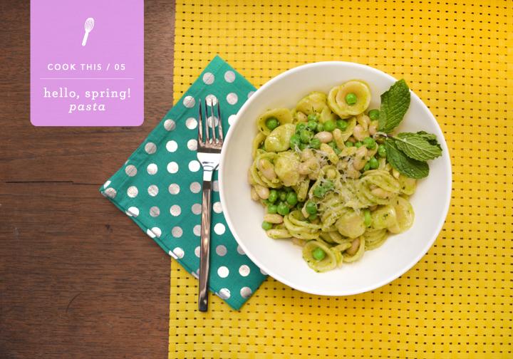 Hello Spring! Orecchiette Pasta