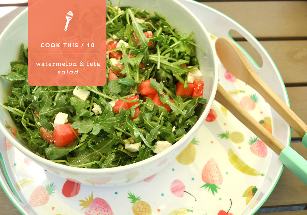 Arugula, Watermelon, Feta & Mint Salad