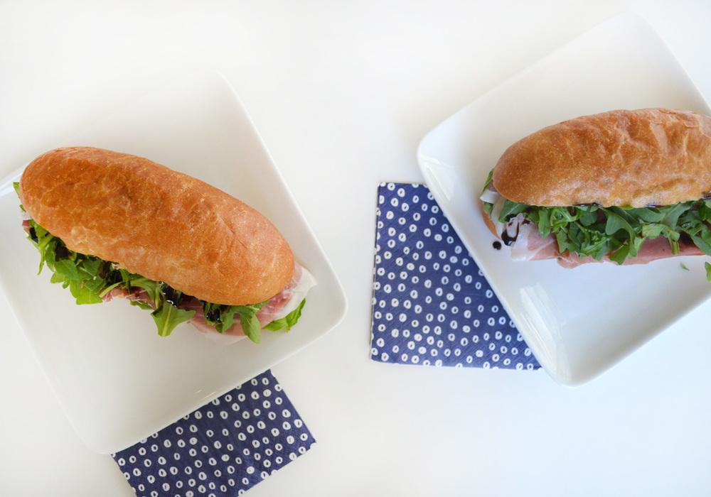 Prosciutto, Arugula & Goat Cheese Sandwich
