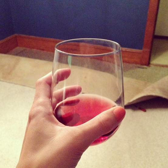 """a glass of rose & impulsively ripping up carpeting on a wednesday night..."" via"