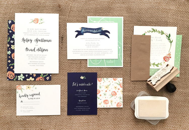 Kelsey brads wedding invitations colorwhirl stopboris Choice Image