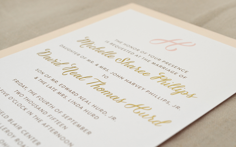 colorwhirl : michelle & dave's wedding invitations