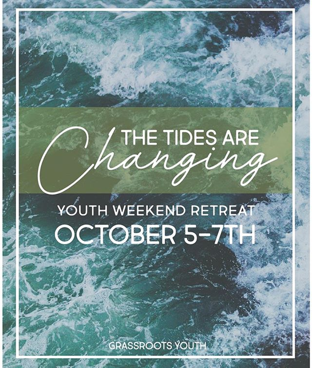 •MARK YOUR CALENDARS•  A great change of the spiritual tides is coming! Get exited and begin to invite friends now!  We can't wait to encounter God in October with friends @willydilly10 and @nathan_herndon and many others!  #moreinfotocome  #grassrootsyouthmovement  #letsgo  #thetidesarechanging