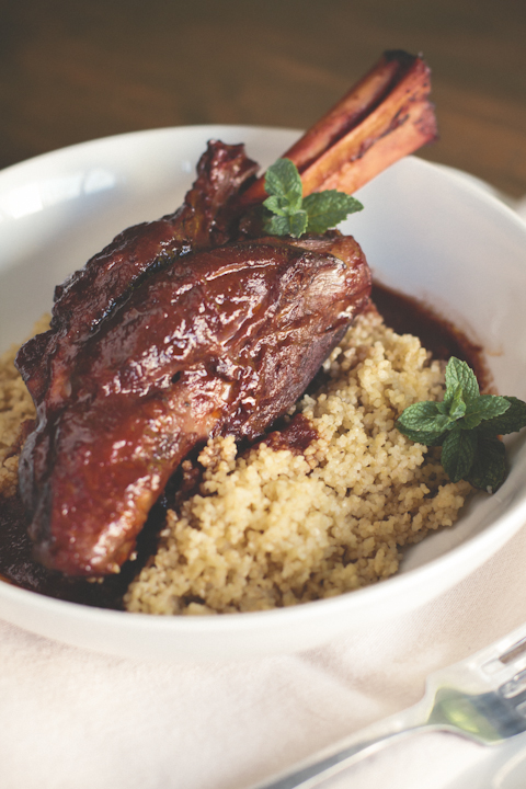 Moroccan Spiced Braised Lamb Shank
