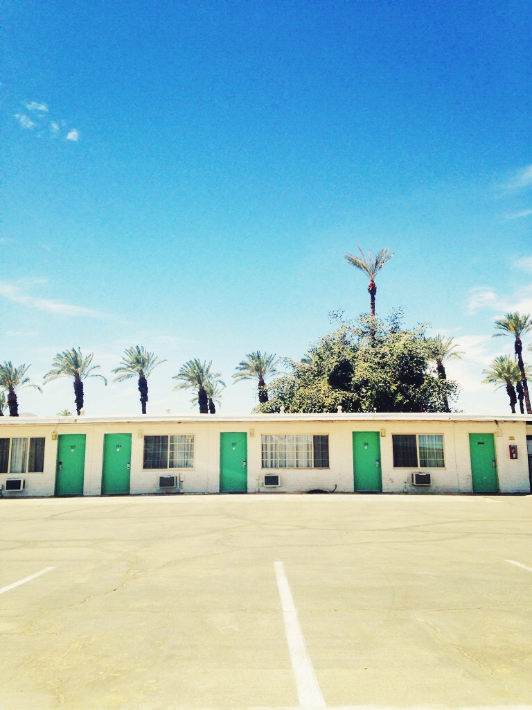 Day 3 at the Western Sands Motel in Indio, CA.