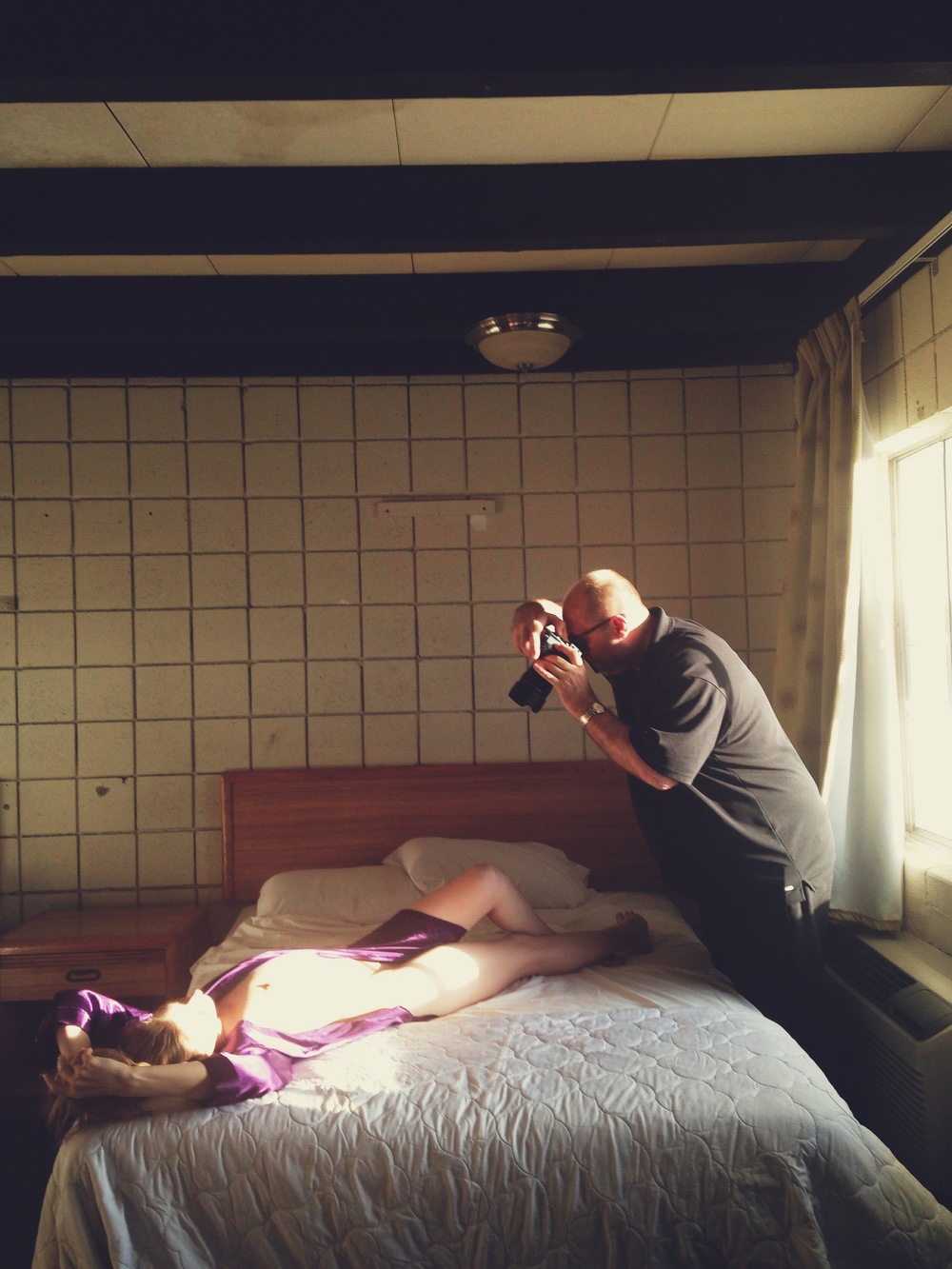 Todd shooting with Brooke at the Western Sands Motel.