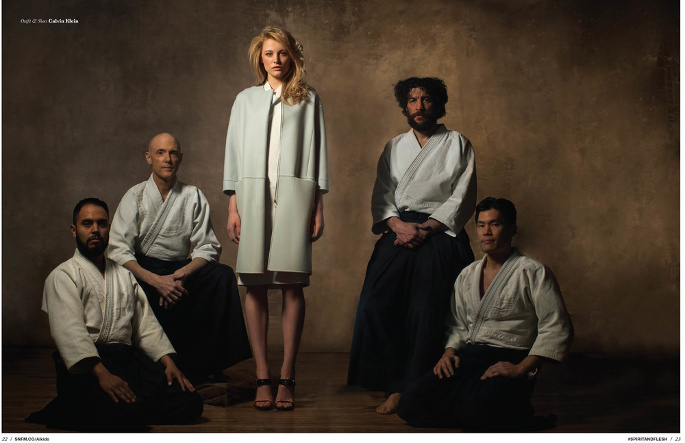 Erika Pattison with the Aikido Masters.