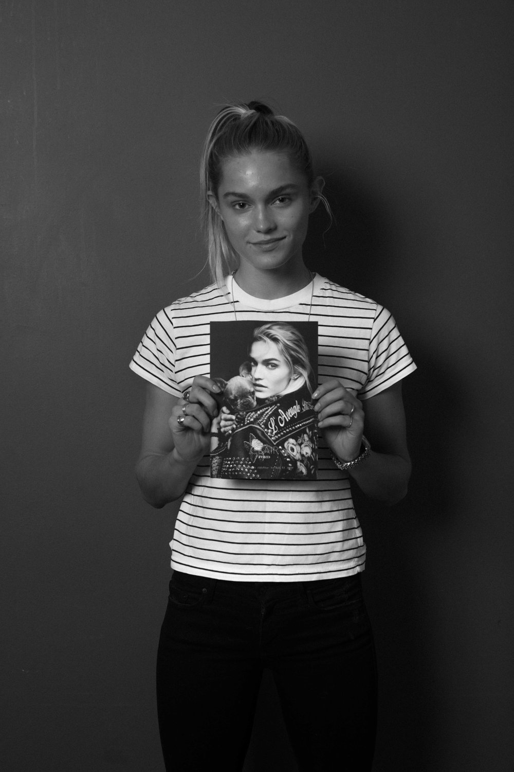 Claire Wustenberg during casting. She was selected her for the lookbook.