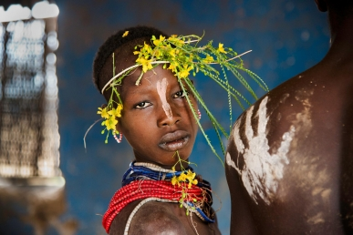 Child Adorned with Flowers - Ethiopia