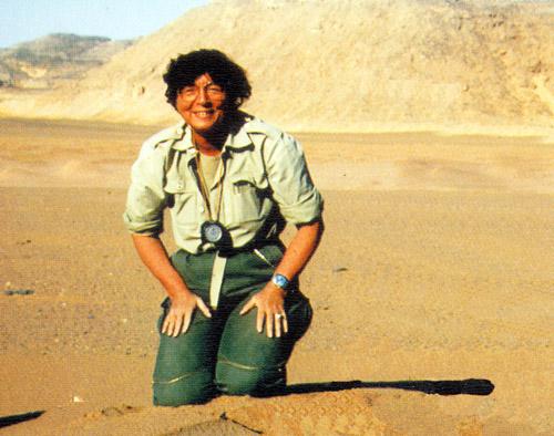Helga Besler in Namibia.