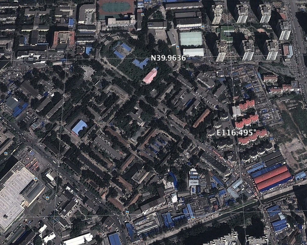 Location of the residential area which is still in tact.  - Satellite photo: Google Earth (on the 11th of October, 2013)