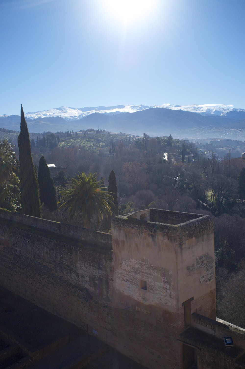 View on the Sierra Nevada from Alhambra (as seen on the 5th of February, 2014)