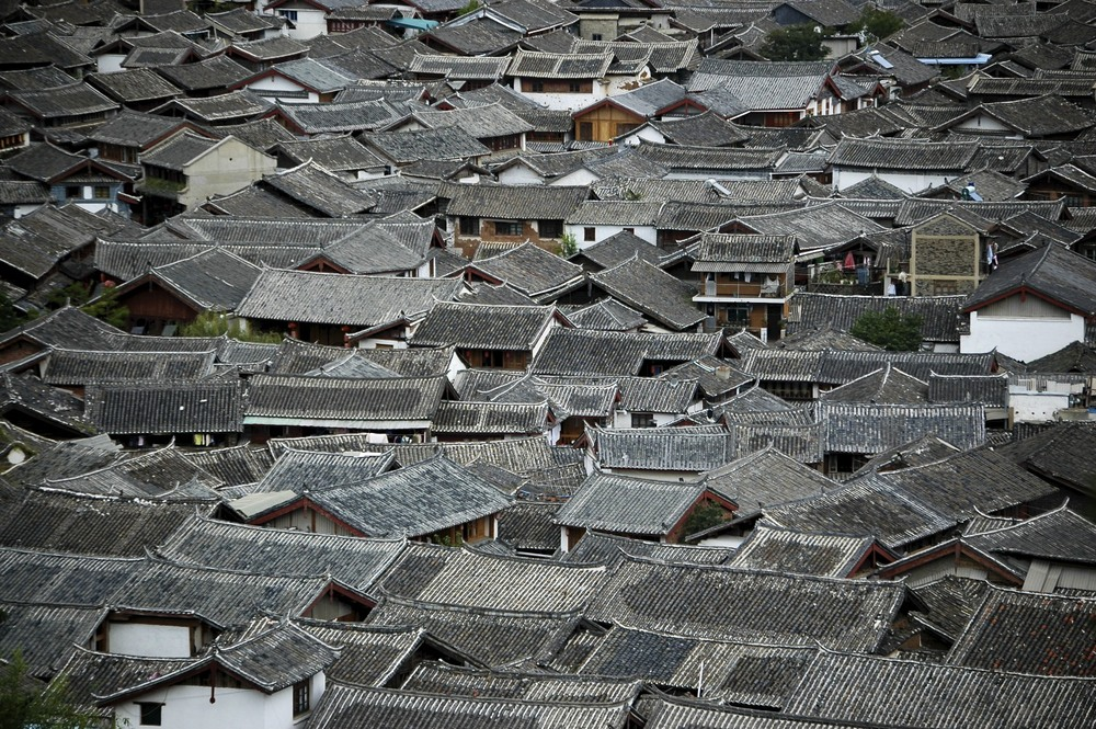 Roofs of Lijiang quarter