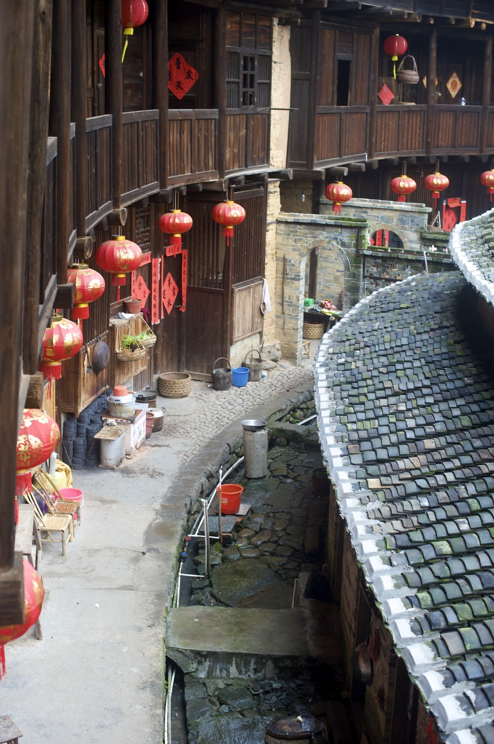 Tulou inside view