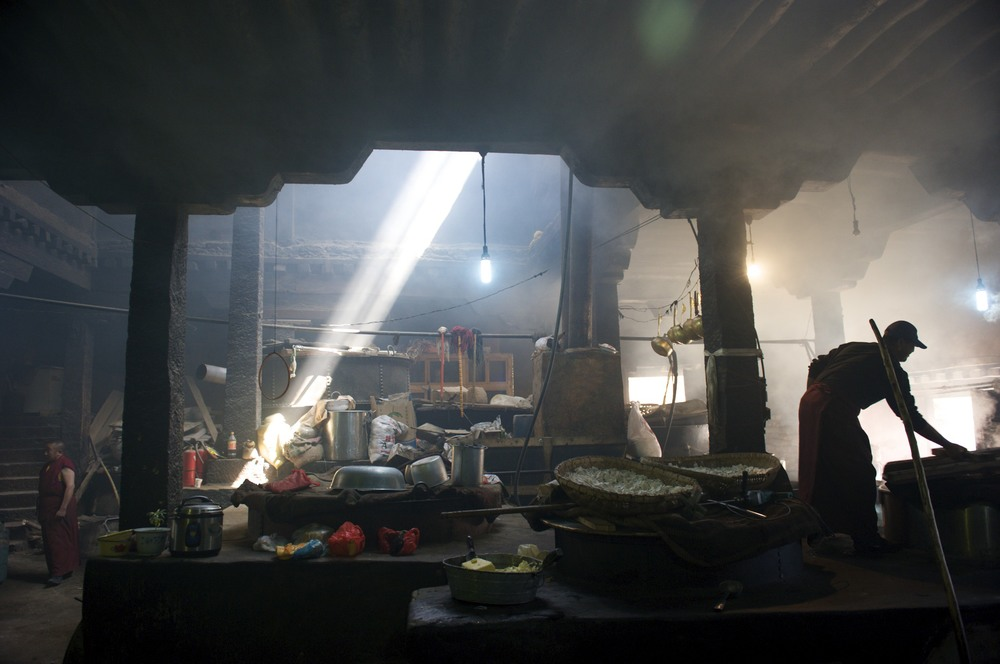Tibetan monastery kitchen
