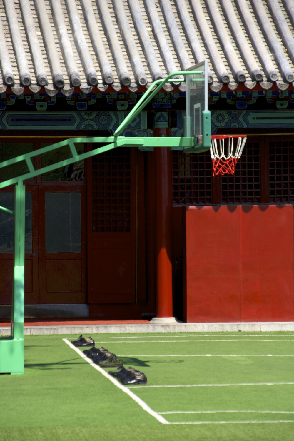 army basketball court in Beijing