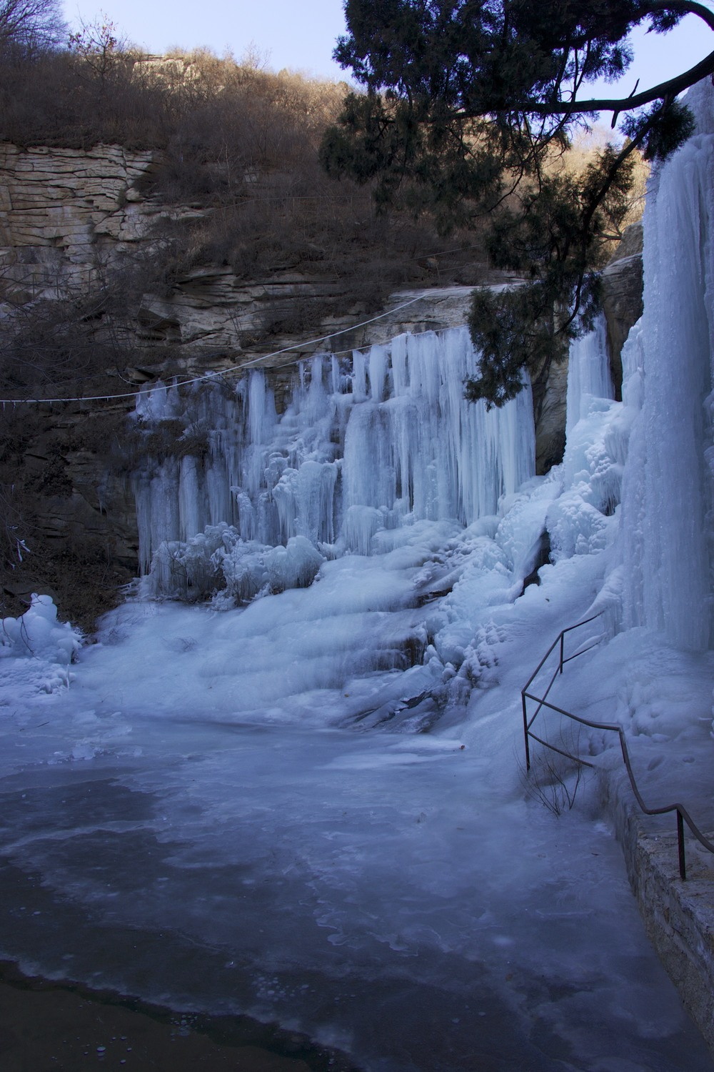 immortal valley frozen waterfall
