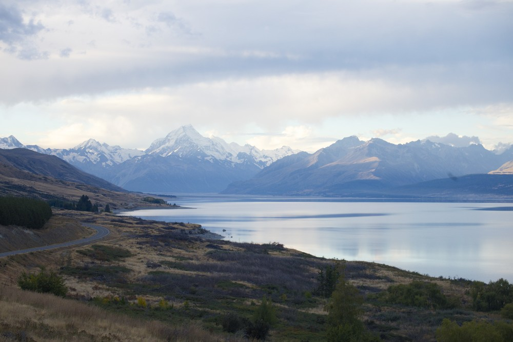 Evening view on Mount Cook