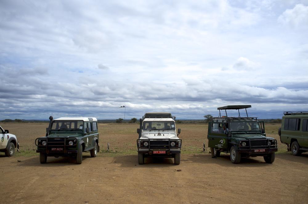 Serengeti Airstrip. Main parking lot and runway (2011).