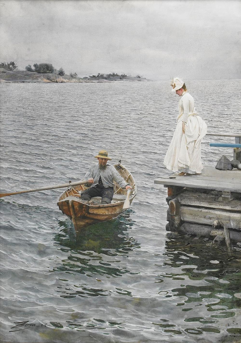 Andreas Zorn: Sommarnö je, 1886 ( copyright public domain )