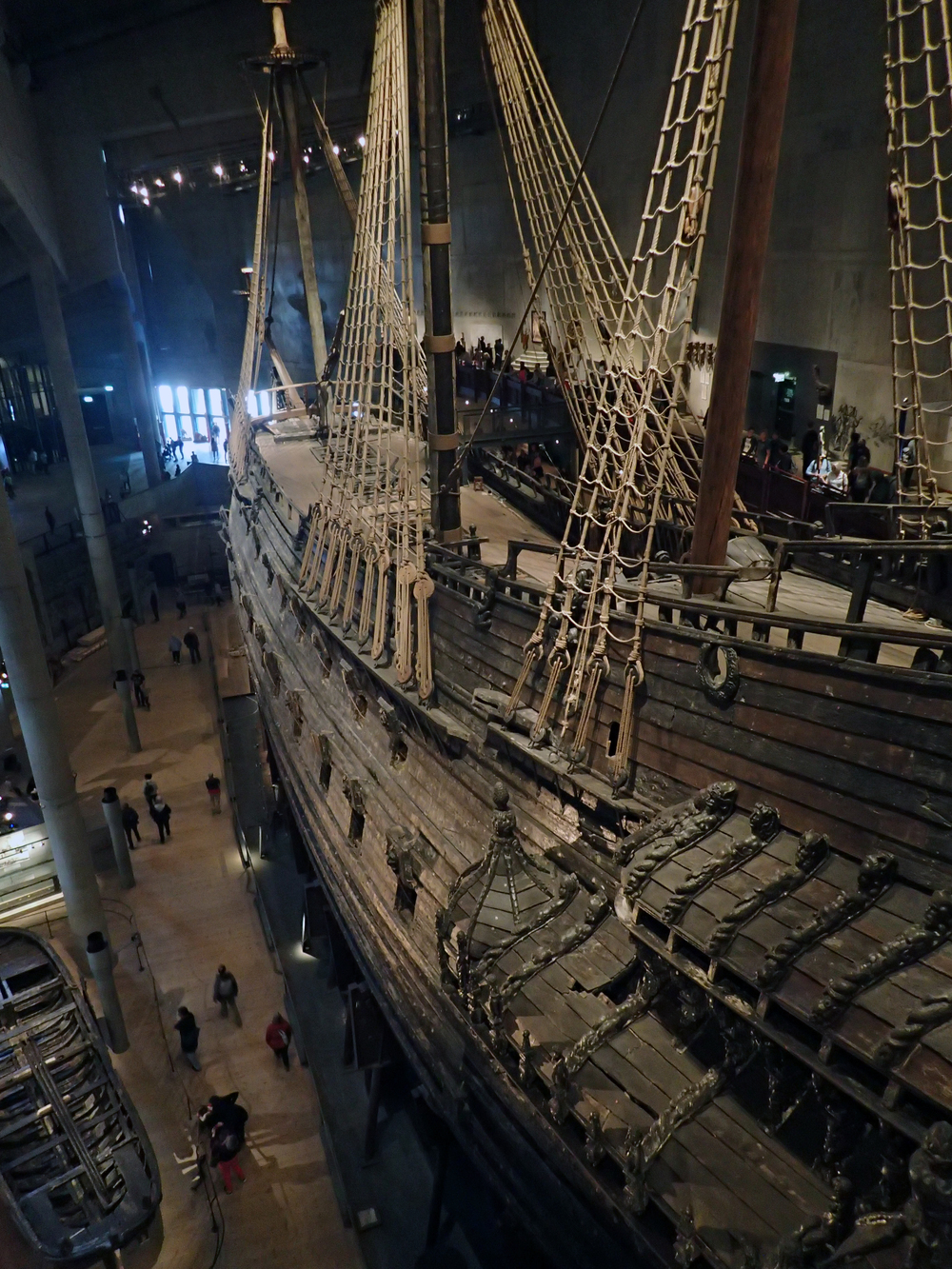 Vasa, the ship that sank on the maiden voyage in the harbor of Stockholm.