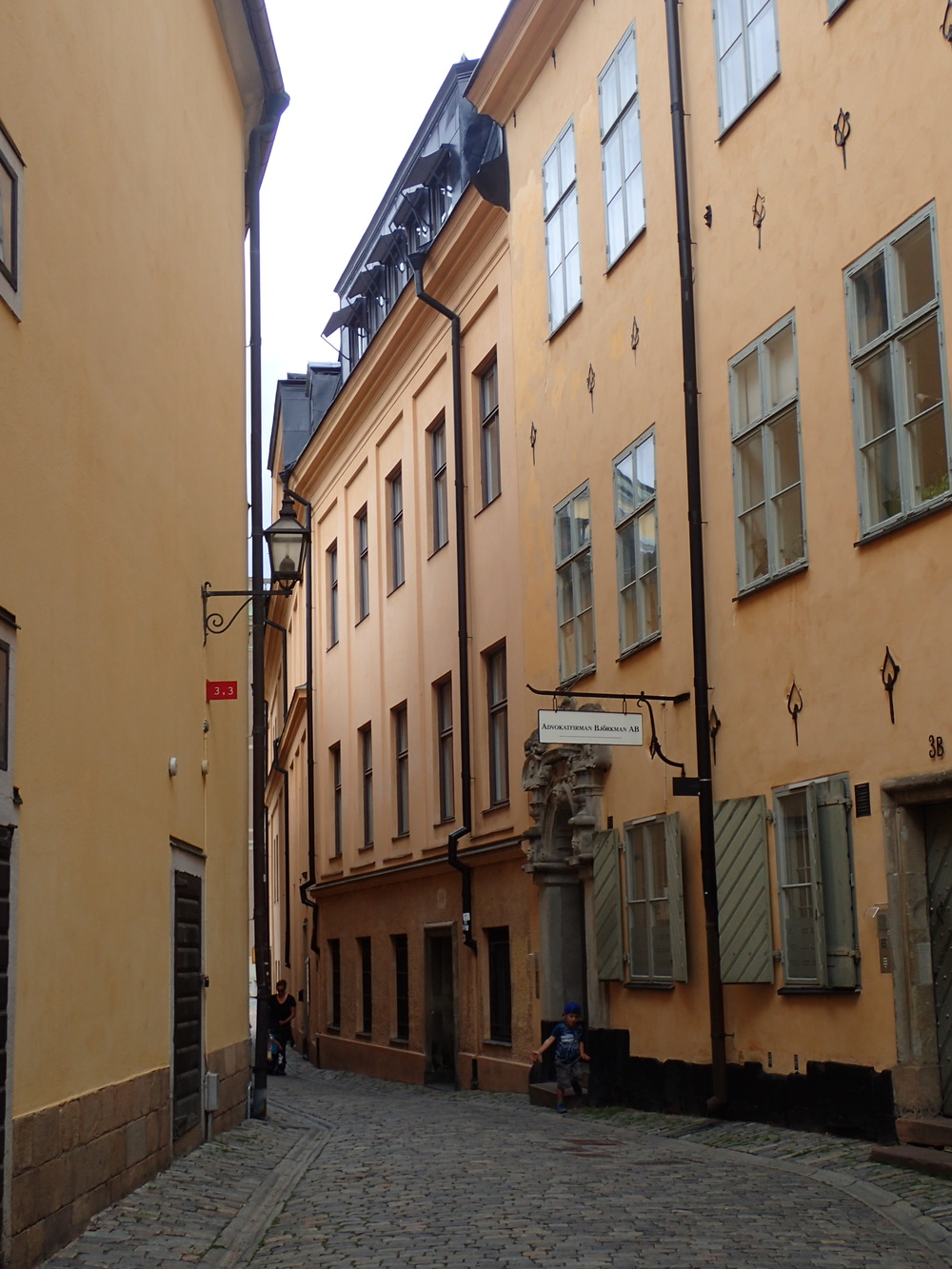 Small street in the old city of Stockholm.