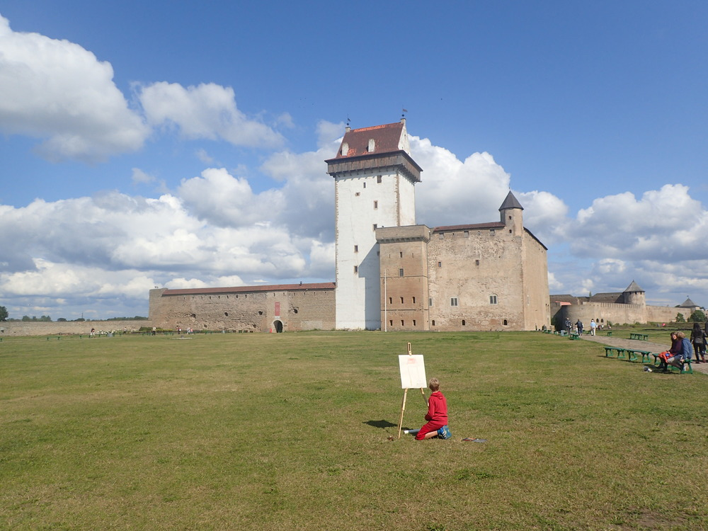 Hermann Castle (also Hermannsfeste, Herman Castle, Narva Castle, and Narva fortress) ( Estonian : Hermanni linnus) is a  castle  in  Narva , Eastern  Estonia .