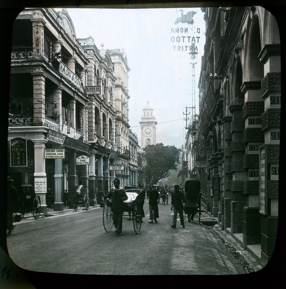 60 Queen's Road,   looking towards the Pedder Street Clock Tower (1908)