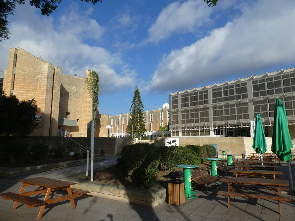 The campus of The University of Malta on a winter day.