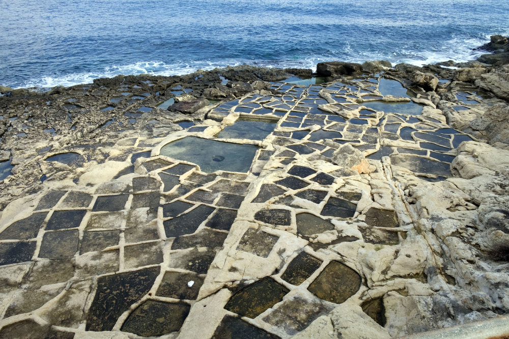 Salt pans South of Fort Rinella (Malta)