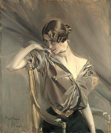 "Giovanni Boldini (1901): Cleo de Merode. Perhaps the first ""Supermodel"" in history (Copyright creative commons)"