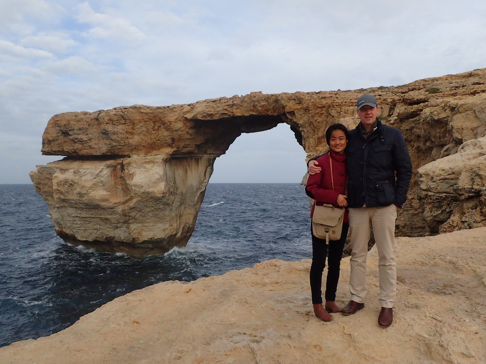 With Feibai in front of the Azure Window in 2016. It collapsed on today on March 8th, 2017.