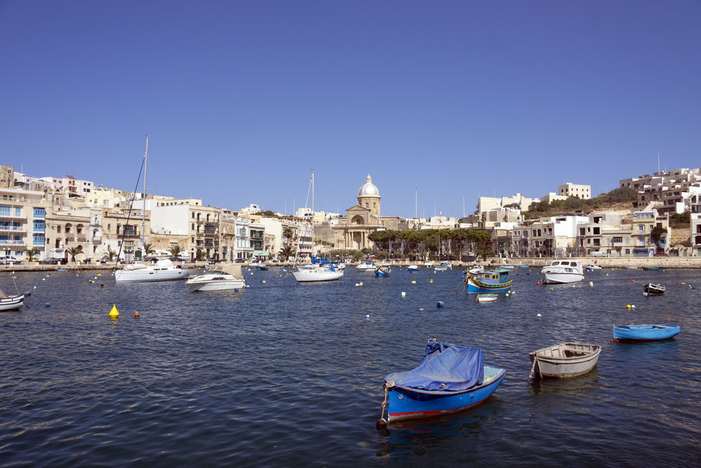 Kalkara in the later afternoon sun.