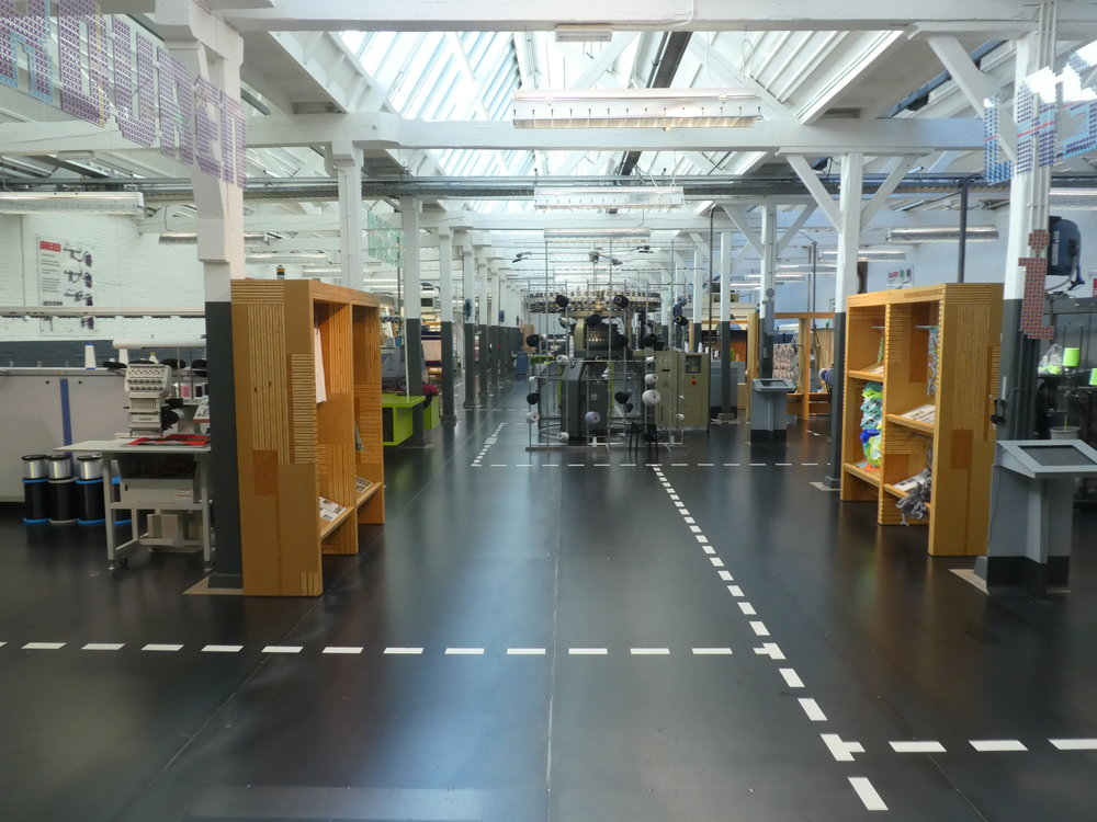 View into the lab area of the Tilburg Textile Museum.