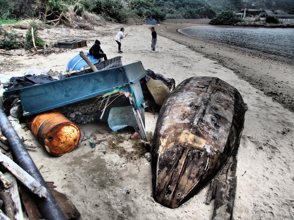 Typhoon debris