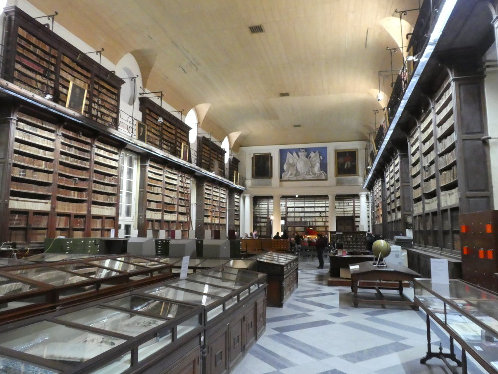 An inside view of the National Library of Malta.