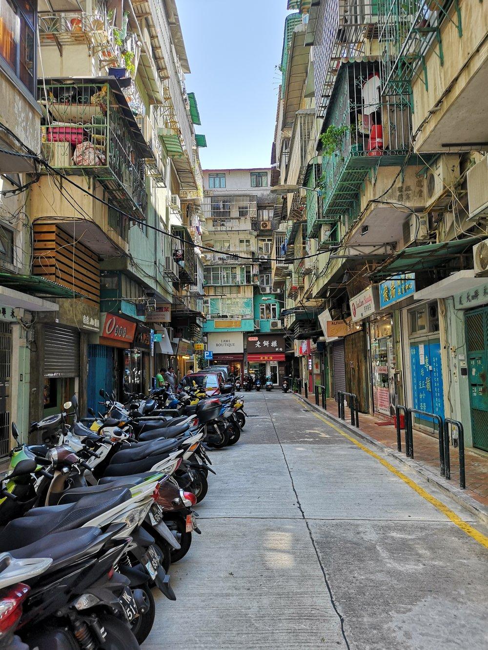 Downtown Macau, where it still feel like Macau.