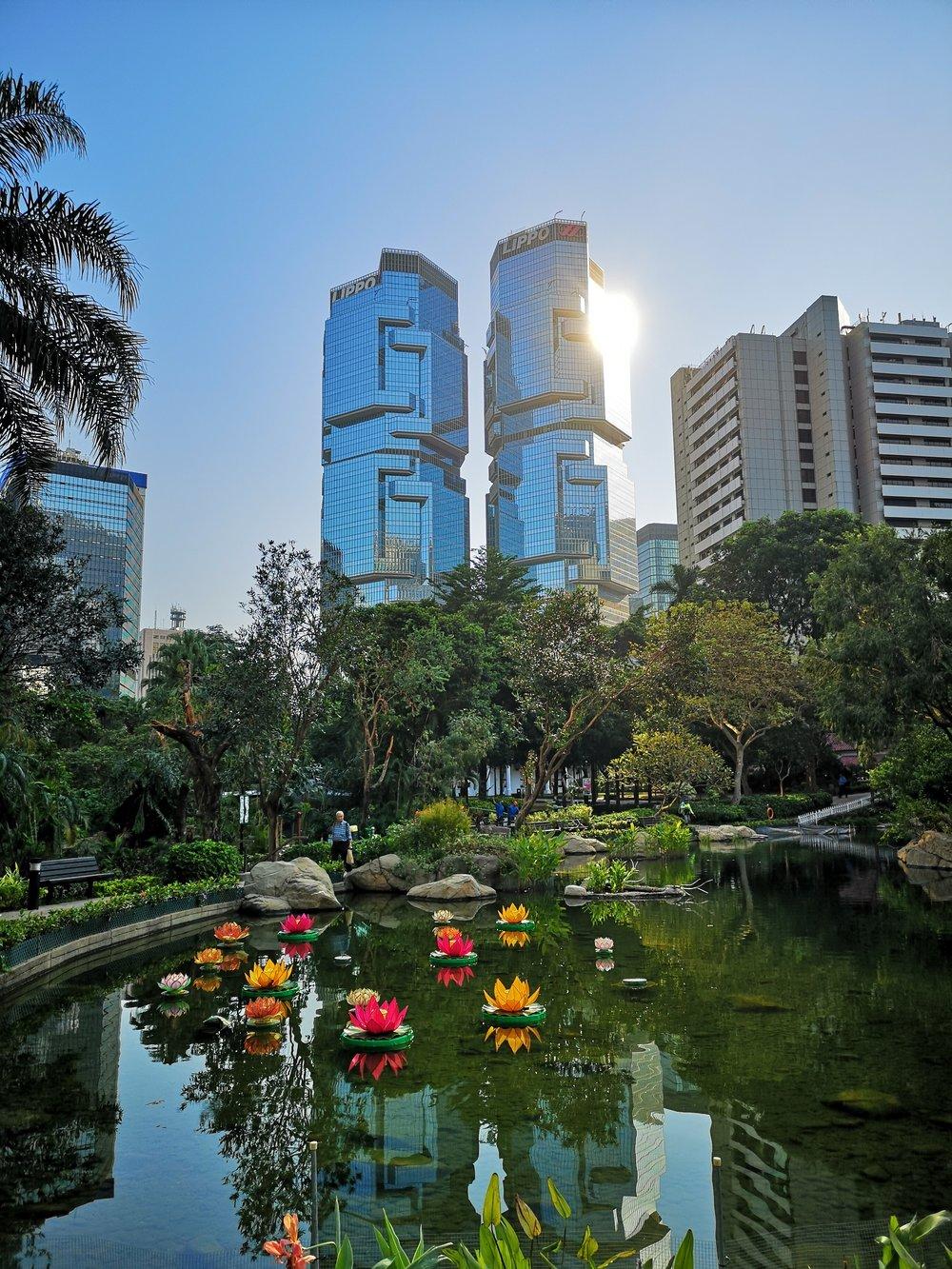 Hong Kong Park on the morning run