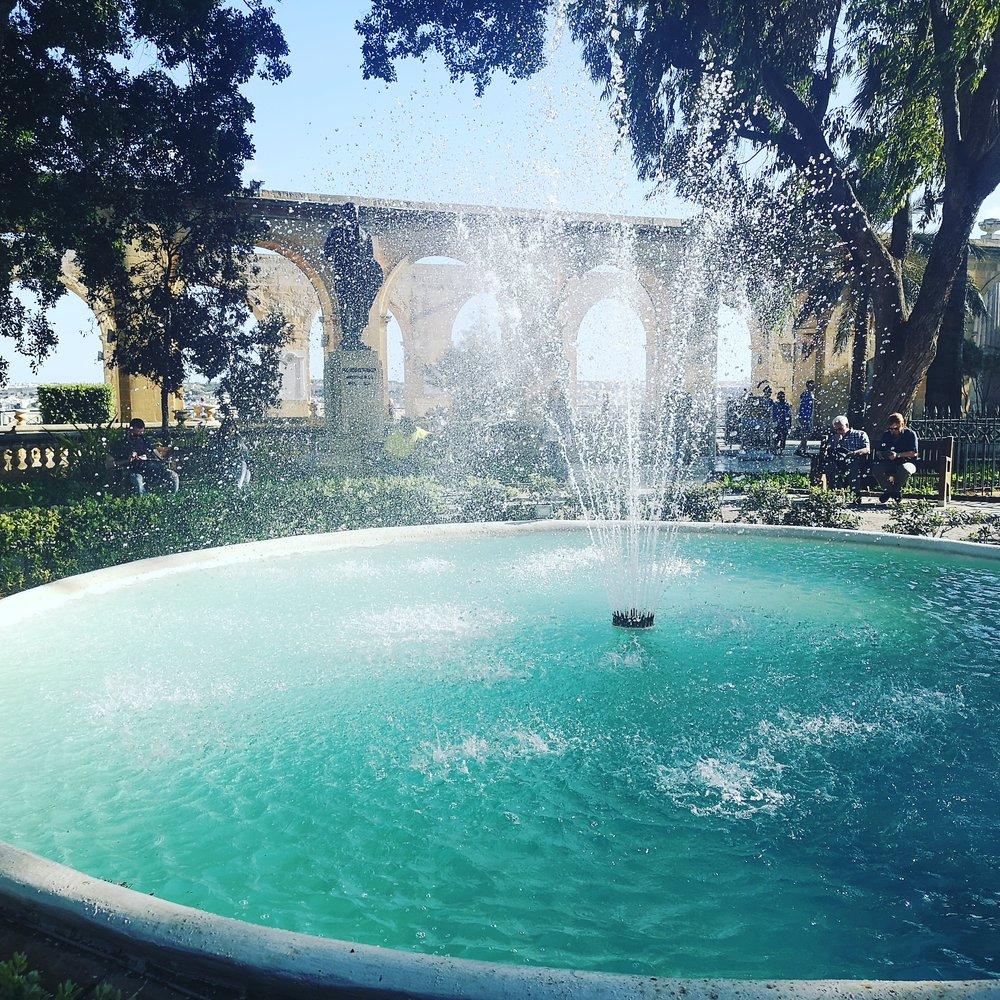 Fountain in the Upper Barakka Gardens, Valletta