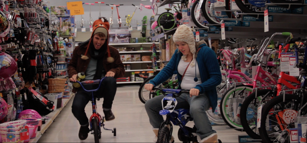 "Debbie Fry and Bryan Scott Cooper tearing up a small-town Walmart in the latest Jesse James Rice - directed ""Corra at Home"". Coming soon!"