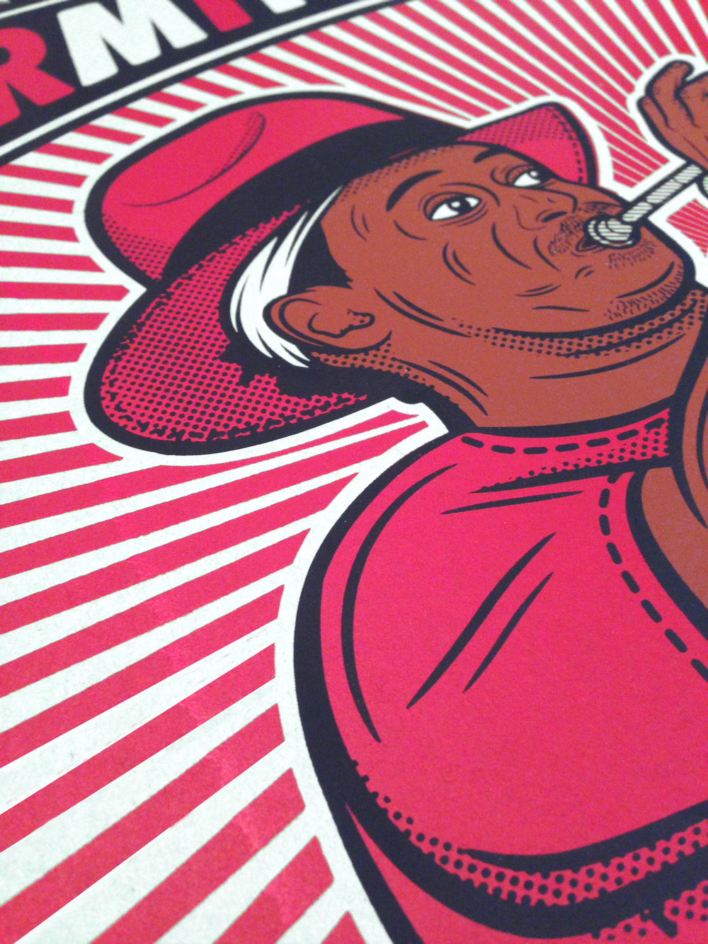 Kermit Ruffins Gig-Poster  [Image 2/3]  [18x24 / 3-Color]   Client: Evanston Space / Kermit Ruffins    PURCHASE A PRINT